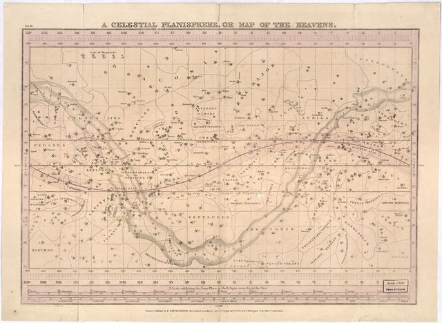 A celestial planisphere, or map of the heavens /