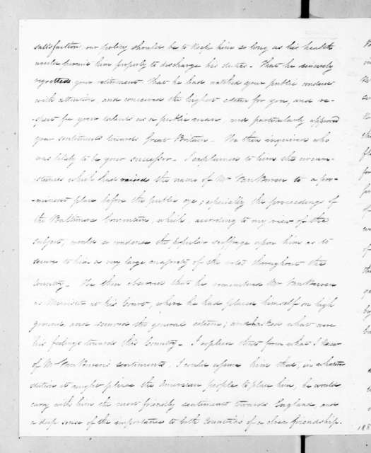 Aaron Vail to Andrew Jackson, July 18, 1835