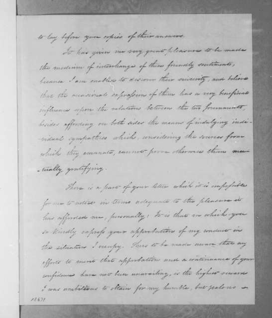 Aaron Vail to Andrew Jackson, May 22, 1835