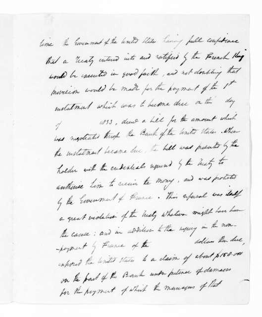 Andrew Jackson, December 7, 1835