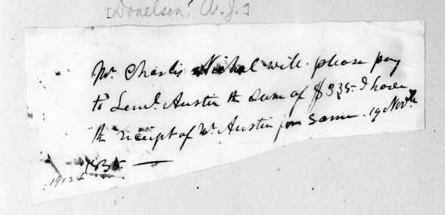 Andrew Jackson Donelson to Charles M. Nichol, November 19, 1835