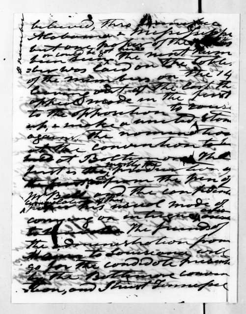 Andrew Jackson to Alfred Balch, February 16, 1835