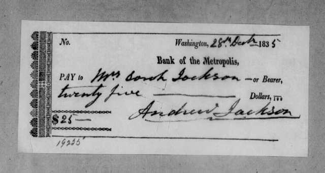 Andrew Jackson to Sarah Yorke Jackson, December 28, 1835