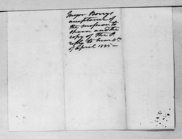 Andrew Jackson to William Taylor Barry, April 11, 1835