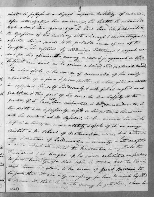 Benjamin F. Bohrer to A. Hunter, February 26, 1835