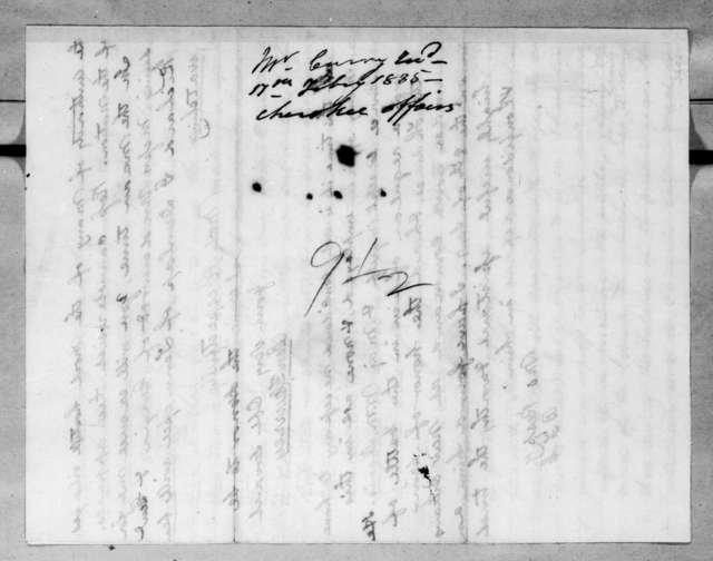 Benjamin Franklin Currey to Andrew Jackson, February 2, 1835