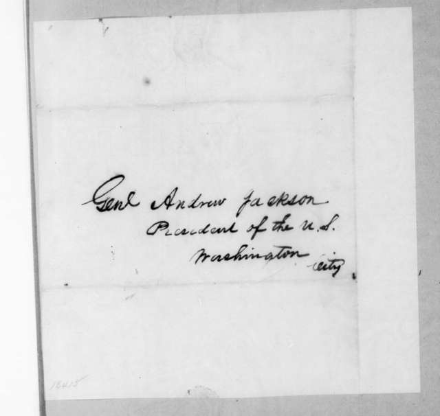Benjamin Franklin Currey to Andrew Jackson, March 23, 1835