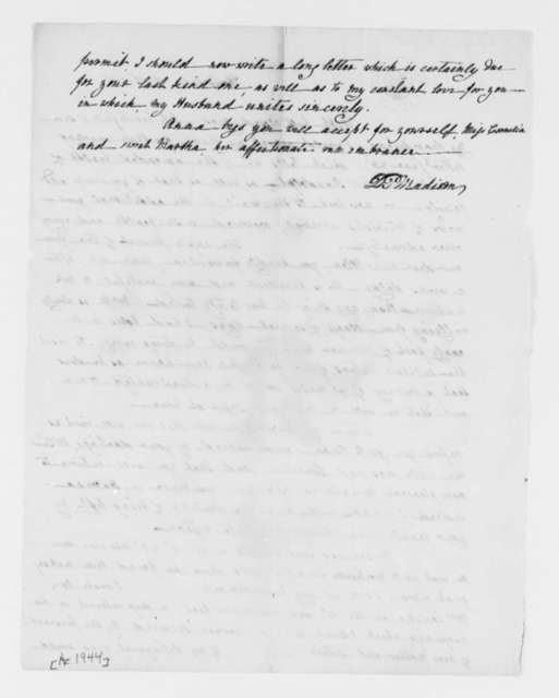 Dolley P. Madison to Virginia R. Trist, July 17, 1835