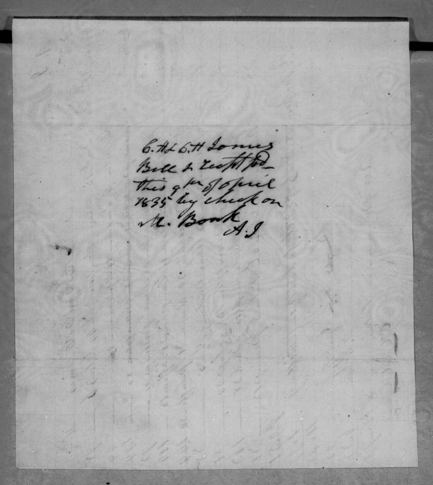 E. H. & C. H. James to Andrew Jackson Donelson, January 12, 1835