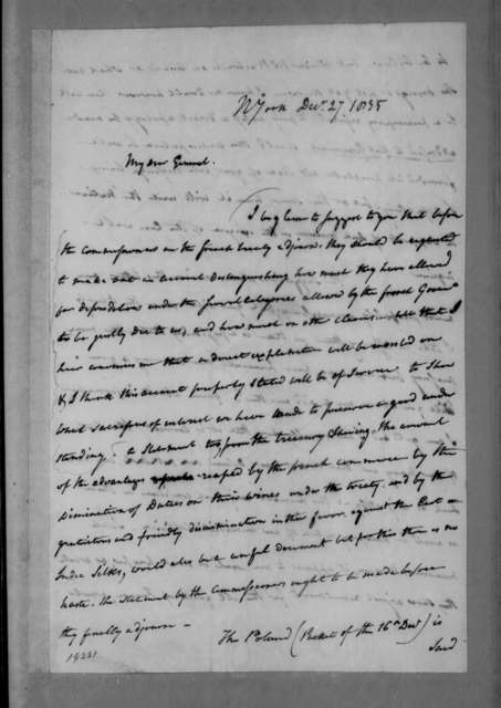 Edward Livingston to Andrew Jackson, December 27, 1835