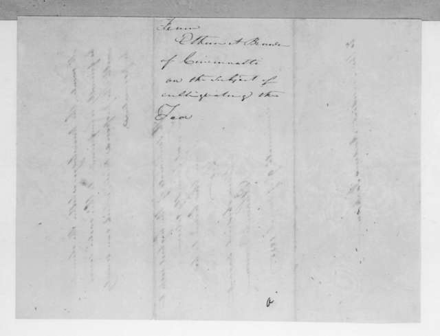 Ethan Allen Brown to Andrew Jackson, March 9, 1835