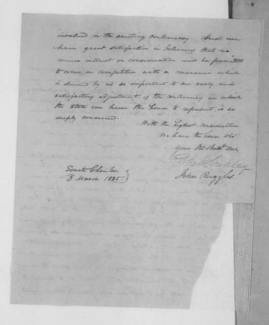 Ether Shepley et al. to Andrew Jackson, March 3, 1835