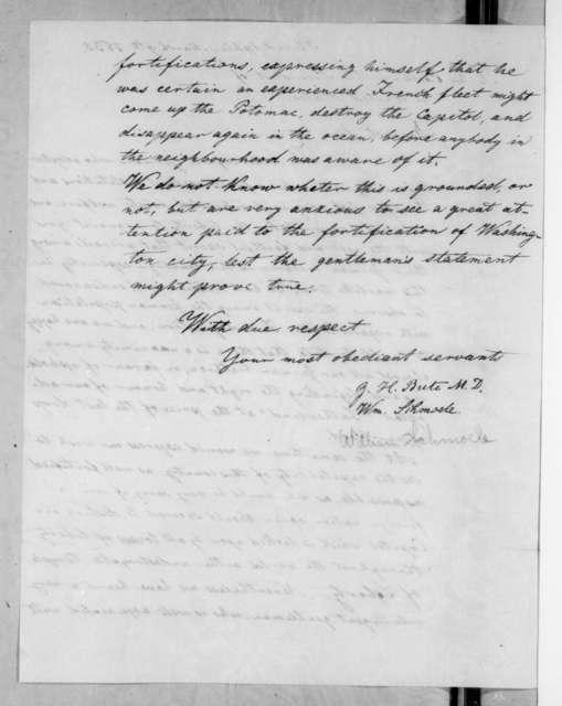 G. H. Bute et al. to Andrew Jackson, March 9, 1835