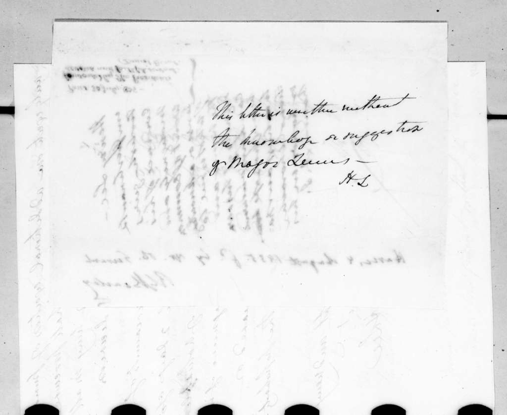 Henry Lee to Andrew Jackson, July 30, 1835