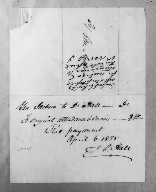 James C. Hall to Andrew Jackson, April 6, 1835