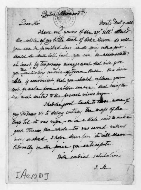 James Madison to Bernard Peyton, December 9, 1835.