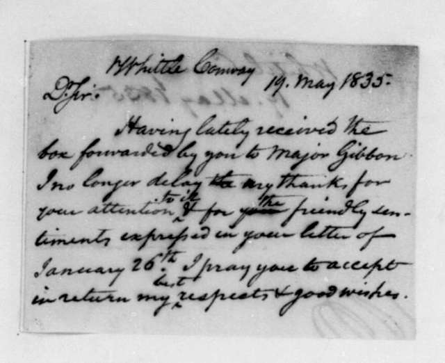 James Madison to Conway Whittle, May 19, 1835.
