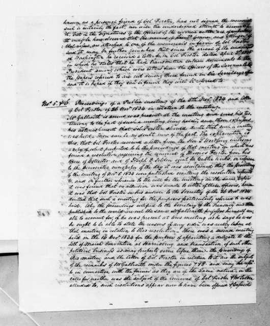 John M. Forster to Andrew Jackson, April 22, 1835