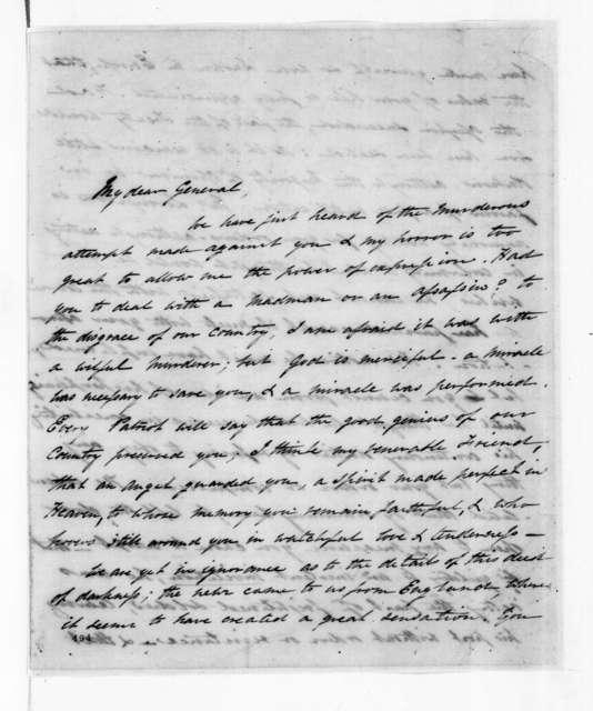 Louise Livingston to Andrew Jackson, February 24, 1835