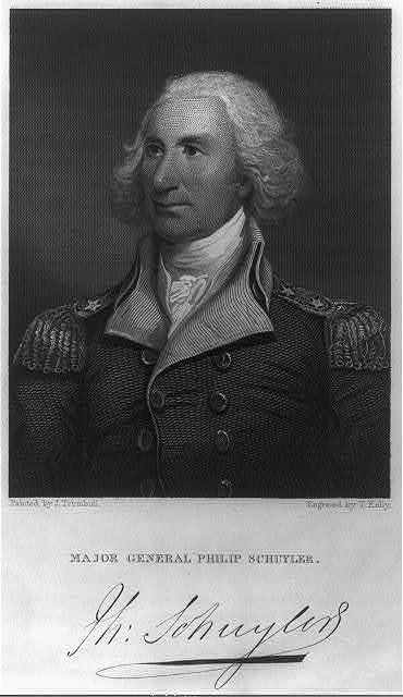 Major general Philip Schuyler / painted by J. Trumbull ; engraved by T. Kelly.