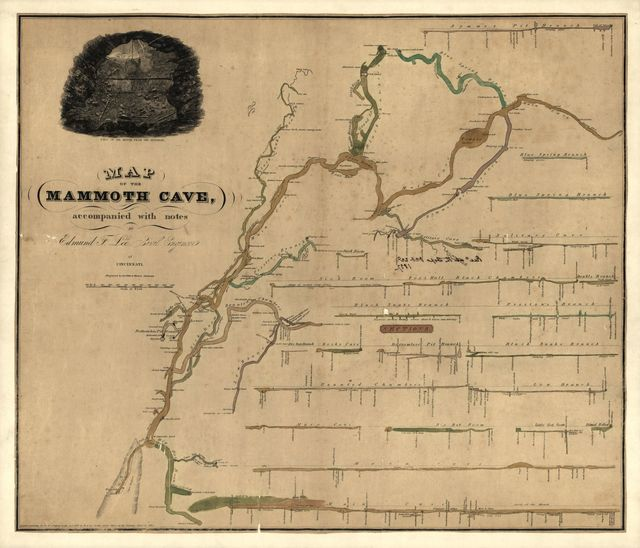 Map of the Mammoth Cave : Accompanied with notes /