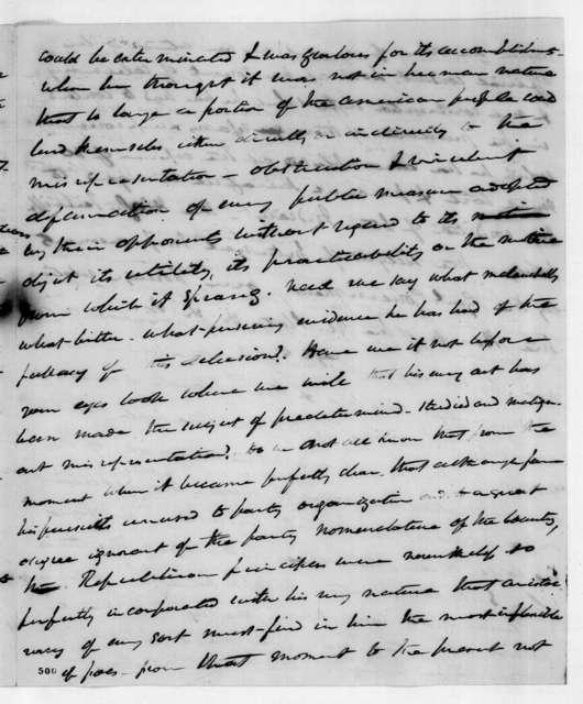 Martin Van Buren to William McKendree Gwin