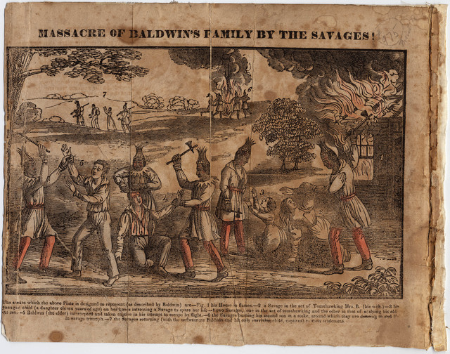 Massacre of Baldwin's family by the savages!