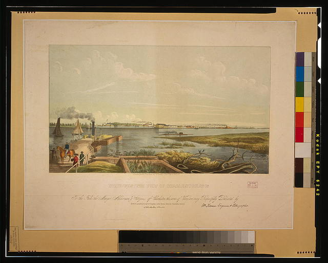 North-western view of Charleston, So. Ca. / lithographed & published by W. Keenan ; Wm. Keenan, engraver & lithographer.