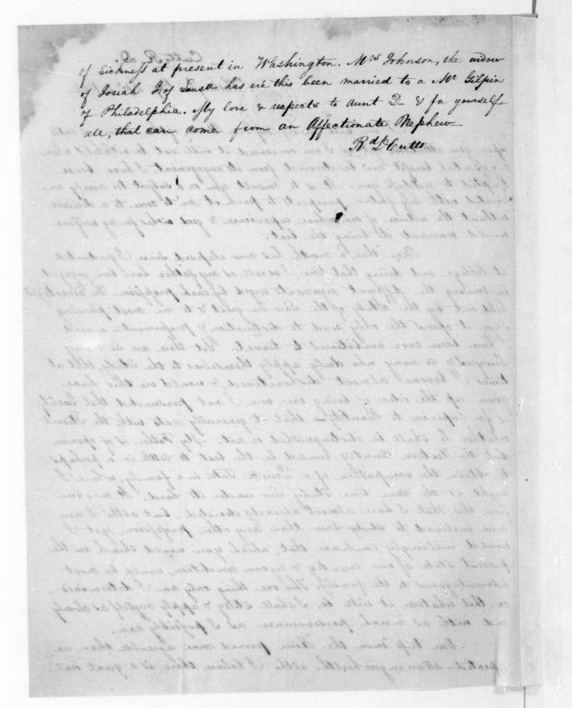 Richard D. Cutts to James Madison, September 5, 1835.