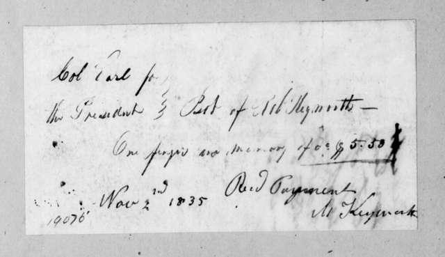 Robert Keyworth to Ralph Eleazer Whiteside Earl, November 2, 1835