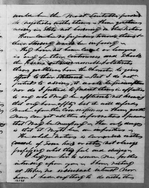 Samuel G. Smith to Andrew Jackson, February 6, 1835