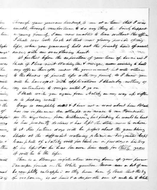 Samuel Gwin to Andrew Jackson, June 27, 1835