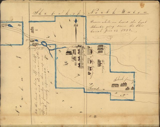 Sketches of the various Societies of Belivers [i.e. Believers] in the states of Ohio & Kentucky. To which is added a slight sketch of Sodus Bay in the northern part of N. York. Also a map containing several of the states on which is laid out of the route of Bv. Rufus Bishop and Isaac N. Youngs New Lebanon while on a hour to visit these societies, in the summer and fall of 1834 /