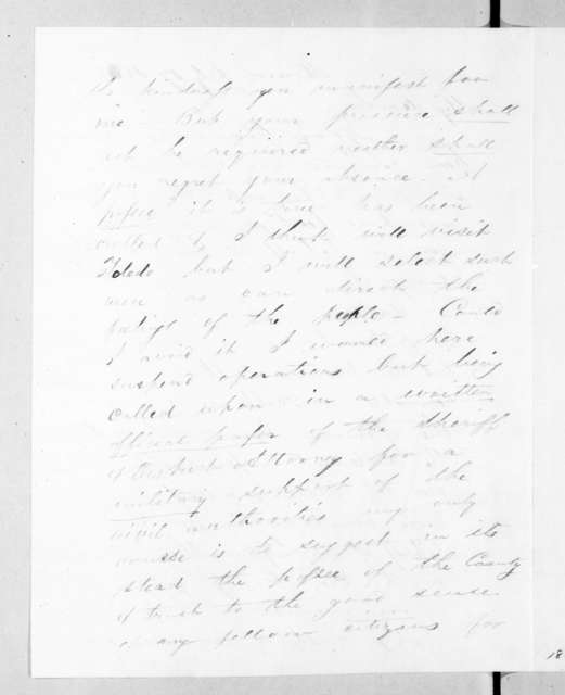 Stephen T. Mason to Lewis Cass, July 17, 1835