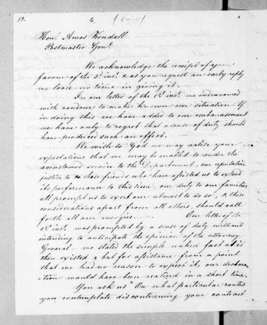Stockton & Stokes to Amos Kendall, August 4, 1835