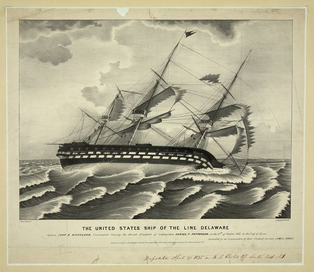 The United States ship of the line Delaware