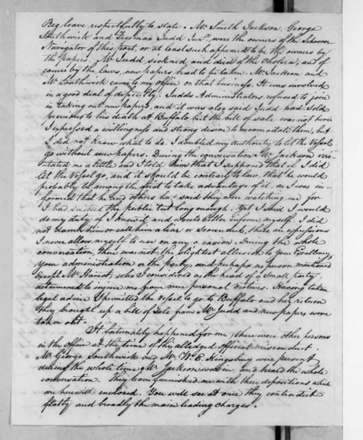 Thomas Forster to Andrew Jackson, March 6, 1835