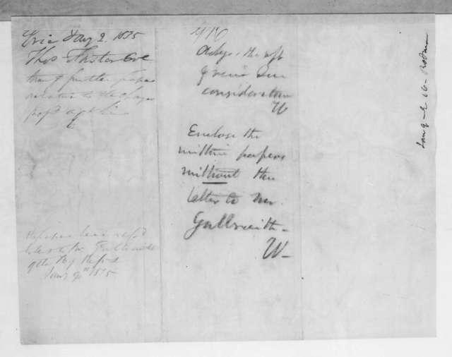 Thomas Forster to Levi Woodbury, January 2, 1835