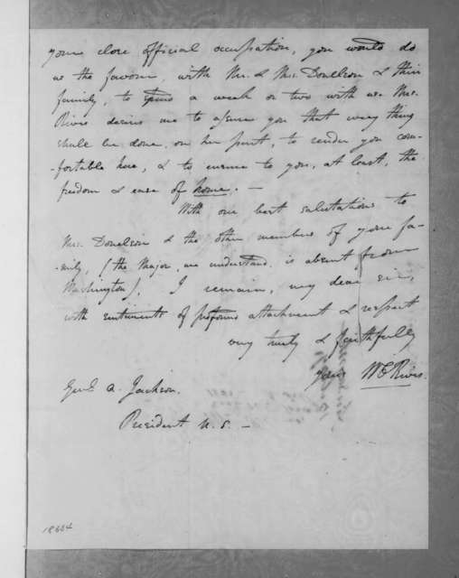 William Cabell Rives to Andrew Jackson, May 13, 1835