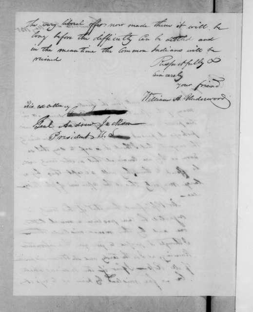 William H. Underwood to Andrew Jackson, May 25, 1835