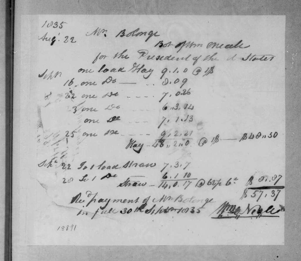 William O'Neale to Joseph Boulanger, September 30, 1835