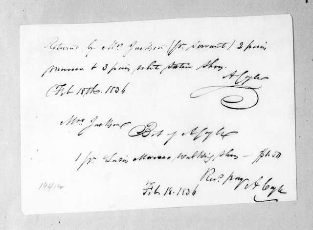 A. Coyle to Sarah Yorke Jackson, February 18, 1836