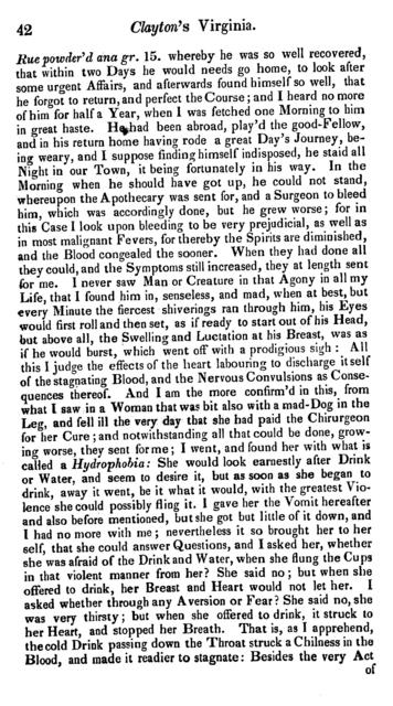 A letter from Mr, John Clayton rector of Crofton at Wakefield in Yorkshire, to the Royal Society, May 12, 1688. Giving an account of several observables in Virginia, and in his voyage thither, more particularly concerning the air.
