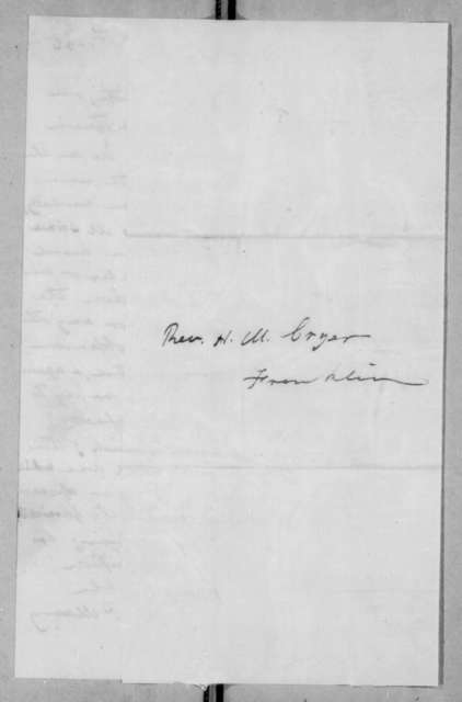 Abram Poindexter Maury to Hardy M. Cryer, October 28, 1836