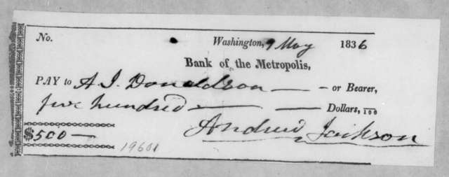 Andrew Jackson to Andrew Jackson Donelson, May 9, 1836