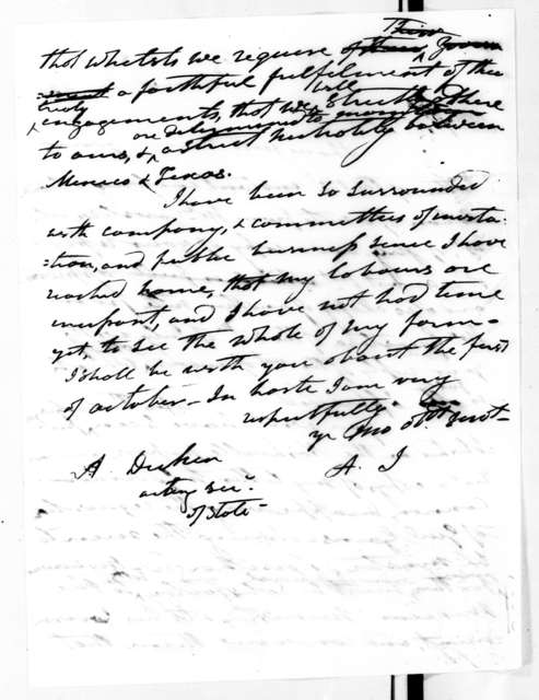 Andrew Jackson to Asbury Dickins, August 17, 1836