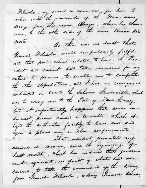 Antonio Lopez de Santa Anna to Andrew Jackson, July 4, 1836