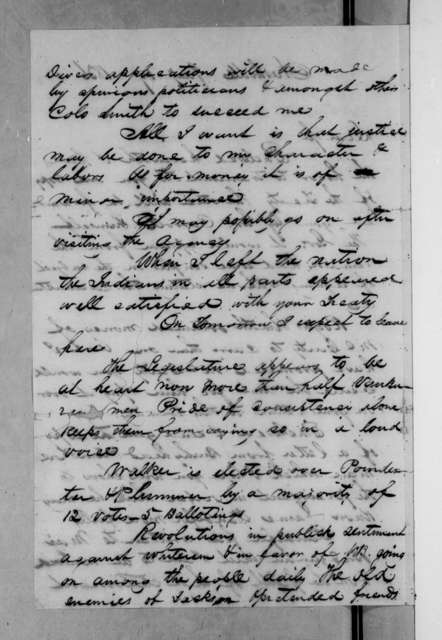 Benjamin Franklin Currey to John Freeman Schermerhorn, January 19, 1836