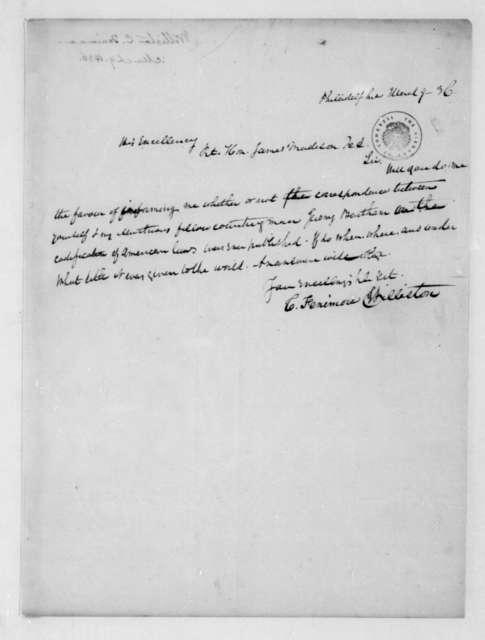 C. Fenimore Williston to James Madison, March 9, 1836.