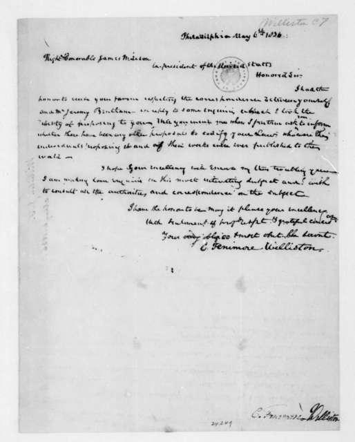 C. Fenimore Williston to James Madison, May 6, 1836.
